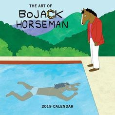 BoJack Horseman 2019 Wall Calendar: The Art of the Art - Acclaimed for its cynical humor, wry commentary on fame, and allusions to popular culture—particularly well-known works of art— the hit Netflix series BoJack Horseman follows the anthropomorphic title character and his attempts to overcome his status as a washed-up actor in modern day...