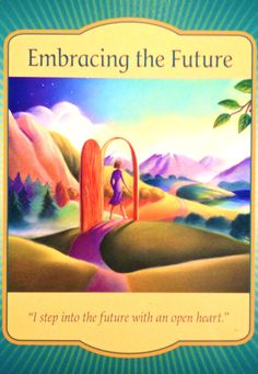 Daily Angel Oracle Card: Embracing The Future, from the Gateway Oracle card…