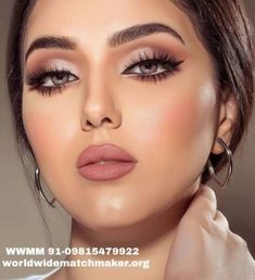 Fab makeup, perfection - beauty make up - Maquillaje Glam Makeup, Makeup Inspo, Nude Makeup, Makeup Inspiration, Beauty Makeup, Hair Makeup, Makeup Ideas, Pink Lipstick Makeup, Neutral Eye Makeup