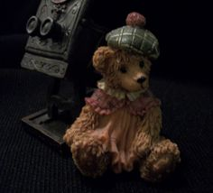 SOLD-CUTE GIRL Teddy Bear with Old Fashioned Camera. She's Waiting for You to Come Take Her Picture. Excellent Pre-Owned Condition! $12.99 obo (Free S&H)