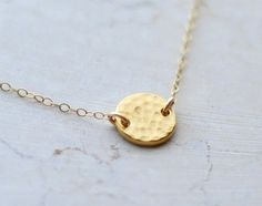 Dainty necklace, simple necklace, circle necklace, dainty jewelry, simple jewelry