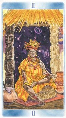 High Priestess from the Shaman Tarot