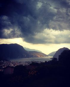 #clouds #storm #rain #sommer #lugano #luganocity #luganolake #svizzera #ticino #suisse #tessin #nuvole #estate Lugano, Estate, Switzerland, Rain, Clouds, Mountains, City, Instagram, Nature