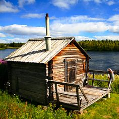 a sauna by the lake in Finland, for you Arianne! Cabana, Malta, Finnish Sauna, Off Grid Cabin, Georgia, Helsinki, France, Norway, Places To Go