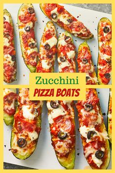 Zucchini Pizza Boats recipe is simple to make, and a nice way to incorporate zucchini into your diet. It can be made into a traditional pizza, but also makes a really great side dish for any meal. #zucchini #zucchinirecipes #zucchiniboats #zucchinipizza #zucchinirecipe #zucchini🥒 #pizza #pizzalover #pizzatime #pizza🍕 Quick Recipes, Egg Recipes, Easy Healthy Recipes, Quick Meals, Healthy Foods, Cooking Recipes, Dessert Ideas, Cake Ideas, Dessert Recipes