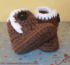 Baby Ugg Booties Free Crochet Pattern