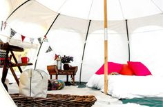Upscale Bell Tents In North Cornwall Glamping Uk