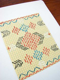 Wow love this! Paper and embroidery