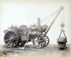 Search results for 'steam crane' Antique Tractors, Vintage Tractors, Old Tractors, Vintage Farm, Heavy Construction Equipment, Heavy Equipment, Steam Tractor, Compact Tractors, Classic Tractor