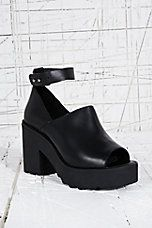 Out From Under Kimberly Peep Toe Shoes in Black