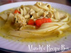 chicken noodle soup. . .pioneer woman's recipe!