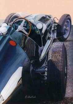 BRM V16 painting by Richard Wheatland