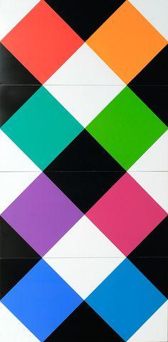Max Bill, Combillation, Schätzpreis EUR 1.442,00, Siebdruck auf vier Kunststoffelementen, verbunden mit insgesamt 12 Messingschrauben, 1970, 120:60 cm, variabel