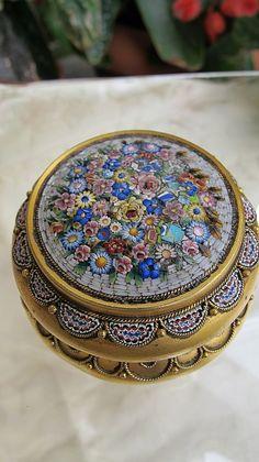 Italian Micro Mosaic Jewelry | italian micro mosaic box depicting a colourful floral motif the micro ...