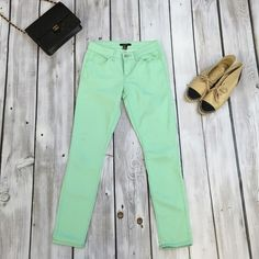 Mint skinny jeans Worn once Forever 21 Jeans Skinny