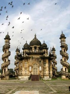 A fusion of Indo-Islamic architecture coupled with Gothic art form. Mahabat Maqbara, Junagadh, Gujarat.