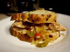 Slow cooker hatch chile chicken sandwich