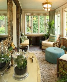 """by Karen Gallagher Interiors  The """"Atrium"""" at the Portland Symphony Showhouse, 2011"""
