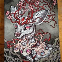 Making good progress on this special commission painting for fellow creator Caitlin Hackett Animal Drawings, Art Drawings, Illustrations, Illustration Art, Deer Art, Spirited Art, Artwork Images, Witch Art, Fairytale Art