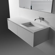 :: BATHROOMS :: lovely under mount vanity detail, Panta Rei Collection | antoniolupi | #bathrooms