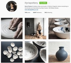 Illyria Pottery does a fantastic job with creating a cohesive, beautiful Instagram feed Instagram Feed, Instagram Posts, Sustainable Living, Filters, Branding, Pottery, Templates, Create, Beautiful