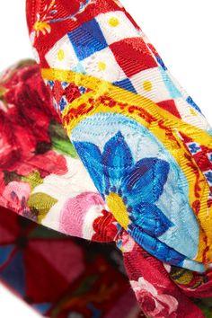 Multicolored cotton-blend brocade Comes in a presentation box Made in Italy