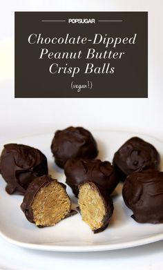 Chocolate-Dipped Peanut Butter Crisp Balls