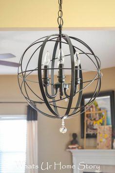 How to make a hula hoop chandelier pinterest hula hoop diy orb chandelier aloadofball Images
