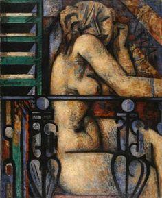 Marcel Gromaire, Nu au balcon, 1933