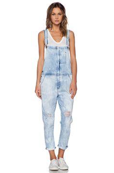 CURRENT/ELLIOTT Ranchhand City Bleach Denim Overalls Sz1 Jeans Jumpsuits Romper #CurrentElliott #Overalls