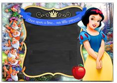 Blanca Nieves Free Printable Invitations, Birthday Invitation Templates, Snow White Invitations, Snow White Birthday, Christening Invitations, Disney Princess Party, Happy Eid, Baby Party, Party Photos