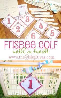 Plan a fun date night playing Frisbee Golf...with a twist!  Fun, free printables included. www.TheDatingDivas.com #datenight #dateidea #thedatingdivas Outdoor Twister, Cool Diy, Bowling, Diy Spring, Outdoor Party Games, Outdoor Fun, Bubble, Family Night, Night Couple