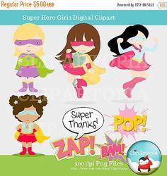 Super Heroes Chicas lindas super heroes niñas para por ClipArtopia