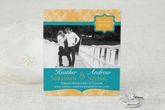 Something Blue - Save the Date Magnet by MagnetStreet