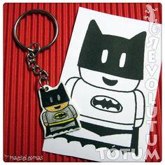 """Llavero Batman con """"plástico mágico"""" #Shrinkles #keyring #Batman"""