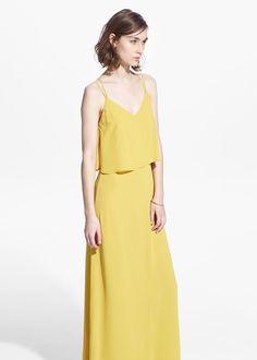 Kleid mit rückenausschnitt | MANGO