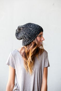 Knit Slouchy Beanie-- I seem to have developed an addiction to slouchy beanies...