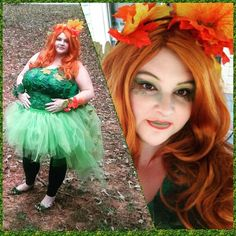 plus size diy poison ivy costume and makeup