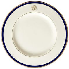 Pickard Signature Monogram China Blue Gold Platinum | Gracious Style