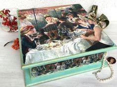 Jewelry Box Wood Tea Box Large Handmade by ArtKaleydoskop2015