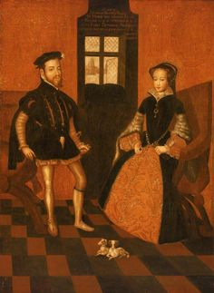 Lucas de Heere (Flemish, 1534-1584) - Mary I of England (1516–1558), and Philip II of Spain (1527–1598)