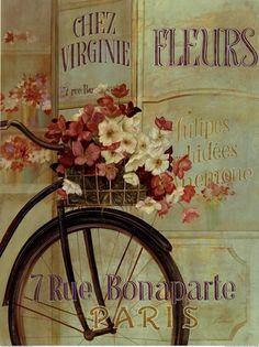 Fabrice De Villeneuve - Paris Bicycle - art prints and posters