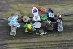Geocache Containers - Critter Collection with 1 mil clam shell container. $3.95, via Etsy.