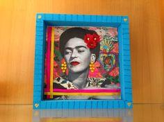 """Quadro . Oficina """"Frida, mulher de flores"""""""