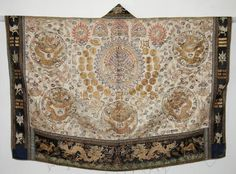 Rare Chinese Qing Silk Embroidered Daoist Priest's Robe