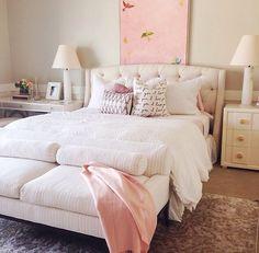 Imagem de bedroom, pink, and bed
