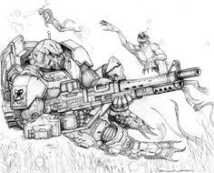 RIFTS BEACH STORMER POWER ARMOR by ChuckWalton on DeviantArt