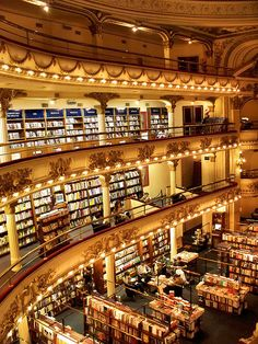 El Ateneo Grand Splendid, one of the most well-known bookshops in Buenos Aires, Argentina (by katiemetz).