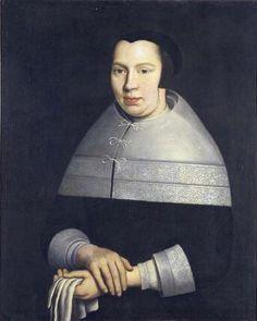 Portret van Maaiken Stoop, echtgenote van Jacob Ouzeel (1631-1709)Samuel van Hoogstraten.