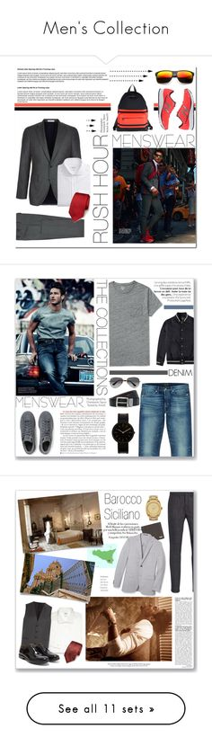 """""""Men's Collection"""" by annatiblog ❤ liked on Polyvore featuring Givenchy, Boglioli, New Balance, RVR, Revo, mens, men, men's wear, mens wear と male"""